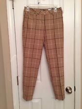 NWT -Womens Express Editor Low-Rise Slim Leg Ankle Windowpane Dress Pants