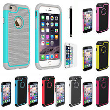 iPhone 6 Hybrid Rugged Rubber Protective Hard Case Cover Screen Protector
