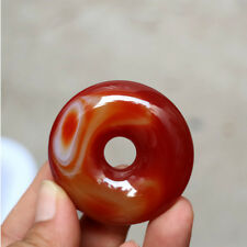 48*12MM Madagascar crazy lace agate doughnuts Carving handicraft collection