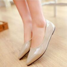 Women New Style Rubber Material Pointed Toe Shaped Slip-On Flat