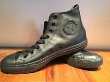 CONVERSE ALL STAR CHUCK TAYLOR HI LEATHER BLACK  STYLE 1T405