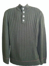 Mens Croft&Barrow Knit Mockneck Solid Sweater Rich Coffee Sz.L, XL, XXL New $80