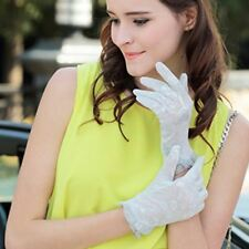 Nappaglo Short Fingerless lace UV Protection Sun Block Bridal Dressing Gloves
