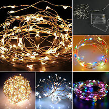 20/30/40 LED String Copper Wire Fairy Lights Battery Power Operated Home Decor