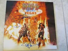 KISS SIGNED  - GENE SIMMONS ACE FREHLEY PETER CRISS PAUL STANLEY - RARE