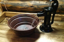 "15"" Rustic Copper BUCKET Vessel Bath Sink--Your Choice of Drain"