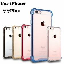 Crystal Clear Slim Shockproof TPU Bumper  Hard Case Cover For iPhone 7 7Plus