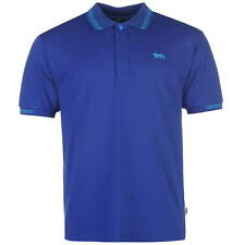 MENS BLUE BRIGHT BLUE LONSDALE LION POLO SHORT SLEEVE T SHIRT TOP SIZE S-3XL