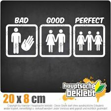 Good Bad Perfect csf0075 7 7/8x3 1/8in JDM Sticker Decal