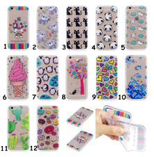 Slim Rubber Silicone Clear Soft TPU Cute Back Cover Case For iPhone/Samsung/Sony