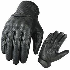 New Leather Motorbike Gloves Street Racing Motorcycle Knuckle Shell Protection M