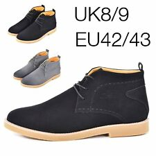 Mens Waterproof Boots Leather Hiking Walking Casual Black Boots Lace Up Men Shoe