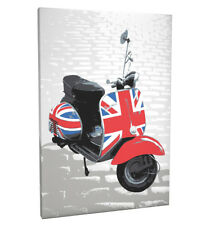 Classic Mod Scooter Box Canvas and Poster Print (169)