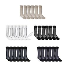 Summer 3 Pairs Mens Thin Breathable Casual Soft Silk Mid-Calf Crew Sock Business
