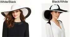 Nine West Womens Hat Black and White Super Floppy Hat One Size