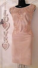 LIPSY SIZE 16 NUDE SEQUIN MESH STRETCH BODYCON DRESS BNWT NEW IN RRP £65