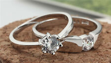 Jewelry opening six claw S925 silver ring ring zircon silver jewelry lovers ring