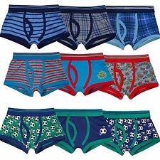 9 Pairs Boys Cotton Rich Designer Boxer Shorts Trunks Underwear Age  2-13 years