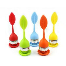 Silicone Infuser Loose Tea Leaf Strainer Herbal Spice Filter Diffuser New H&T