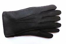 GENUINE Peccary leather gloves with babyalpaca lining