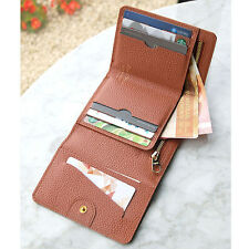 Day Classic Half Wallet - PLEPIC - Womens Genuine Cow Leather Trifold Wallet