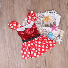 Minnie Mouse Inspired Red & White Polka Dot Birthday Party Sequin Dress