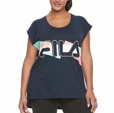 NWT Fila Sports Women's Athletic Step Hem Graphic Muscle Tee  T-Shirt top M L