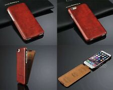 Luxury Deluxe Flip Leather Skin Back FrontCase Cover For Apple iPhone 6 6S 4.7''
