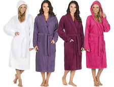 Ladies Luxury 100% Cotton Soft Terry Cloth Bath Spa Robe Towelling Dressing Gown