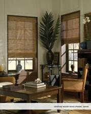 """Woven Wood Roman Shades, 60 to 62 Inches Wide, Any size from 18""""-72"""" Wide"""