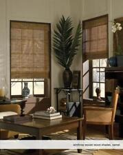 """Woven Wood Roman Shades, 27 to 29 Inches Wide, Any size from 18""""-72"""" Wide"""