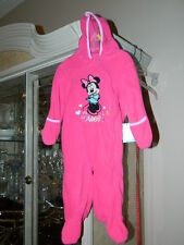 Disney Baby Girl Outfit Pajamas Fleece Minnie Mouse Winnie the Pooh 3/6 6/9 Mont