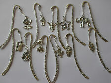 LOVELY TIBETAN SILVER BOOKMARK WITH CHARM OF YOUR CHOICE FREE GIFT BAG