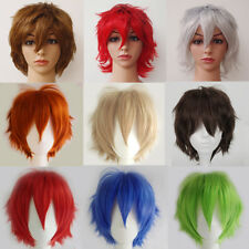 Anime Unisex Cosplay Full Wigs Anime Wig Fashion Short Hair Synthetic Wig Bangs