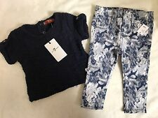 NWT! SEVEN FOR ALL MANKIND 7 SHIRT TOP SKINNY JEANS PANTS 2PC SET LOT 12M 24M