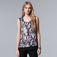 Women's Simply Vera Vera Wang Crinkle Top Size M / L / XL NWT MSRP $32.00