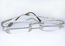 CLEAR READING GLASSES READERS MADE WITH SWAROVSKI CRYSTAL NEW