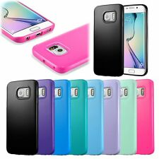 TPU Rubber Colorful Ultra Soft Gel Skin Cover Case For Samsung Galaxy S6 edge