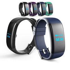Bluetooth Smart Watch Sport Heart Rate Blood Pressure Monitor For Android iPhone