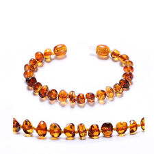 Raw Baltic Amber Necklace for Baby (Multicolor Raw) - 3 Sizes