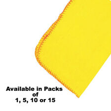 """100% COTTON YELLOW DUSTERS 12"""" x 15"""" - QUALITY LARGE DUSTER - COMMERCIAL CLEAN"""