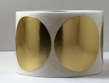 """100 1.75"""" Round Gold/Silver, gloss/ satin Foil Awards Notary Seals Labels Emboss"""