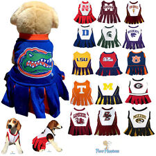 NCAA Fan Game Gear Dog Dress Cheerleader Female Shirt for Dogs PICK YOUR TEAM