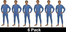 OCTAVE®  6 Pack Mens Thermal Underwear Cotton All In One Union Body Suit