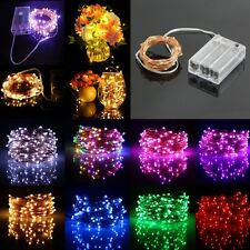 20/50/100 LED String Copper Wire Fairy Lights Battery Operated Waterproof New