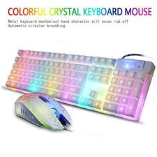 Hot Optical LED Wired Gaming Mice Mouse & Mechanical Keyboard Kit For Laptop PC