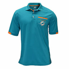 Authentic NFL Miami Dolphins TX3 Cool Pocket Polo Shirt with Team Logo