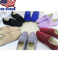 USA Womens Suede Leather Flats Loafers Shoes Casual Ballerina Ballet Pumps Shoes