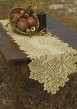 """Beautiful Autumn Heritage Lace """" GOLDENROD LEAF """" Lace Table Runner"""