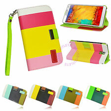 PU Leather Wallet Case Flip Stand Cover For Samsung Galaxy NOTE 3 III N9000